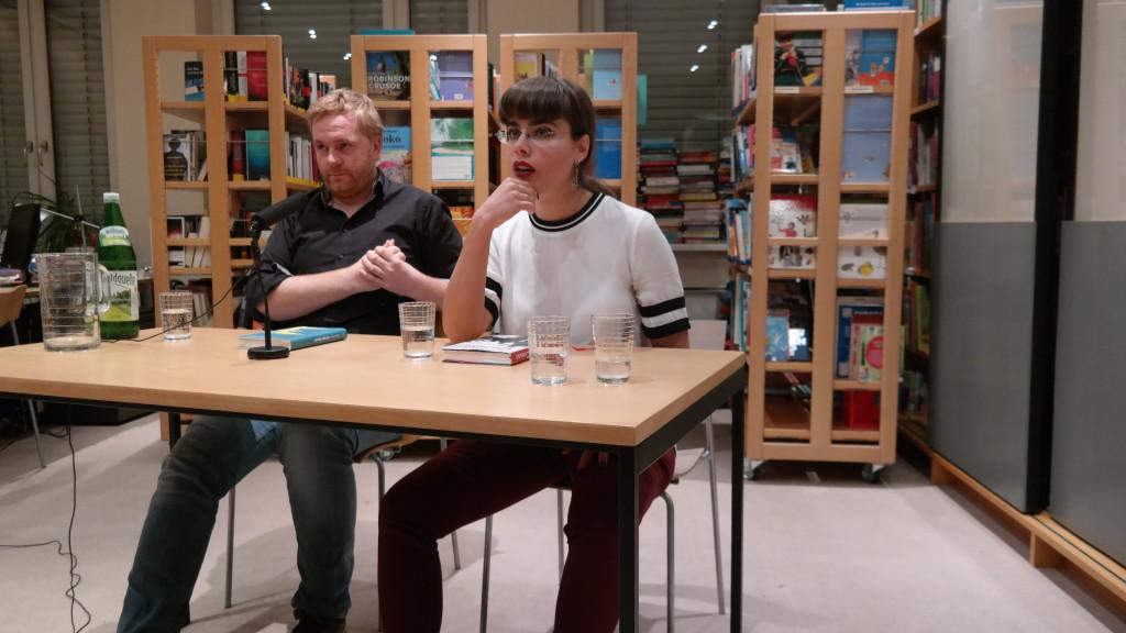 Mit Jürgen Bauer bei der Beantwortung der Publikumsfragen